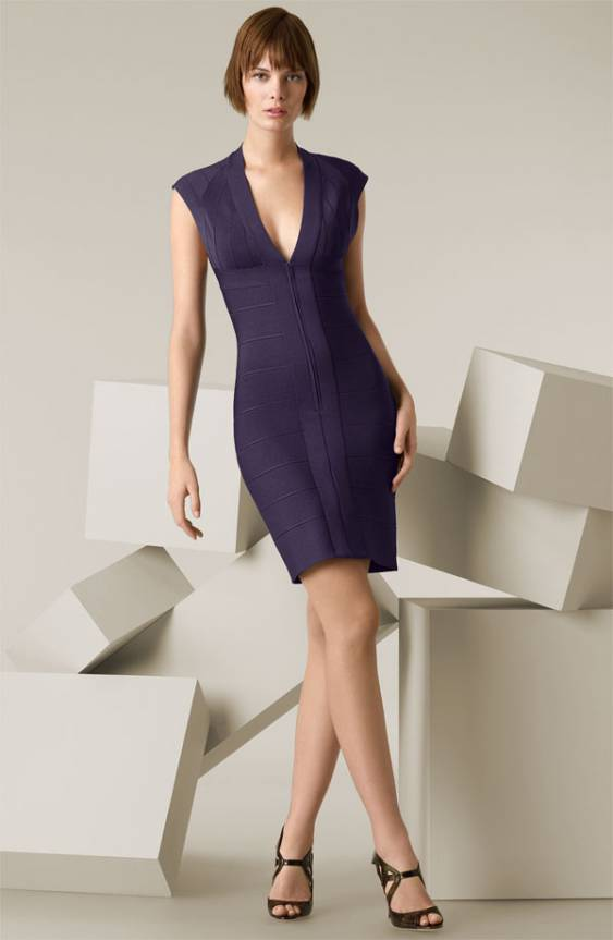 42492-herve-leger-v-neck-front-zipper-bandage-dress-purple-cheap-sale-preview